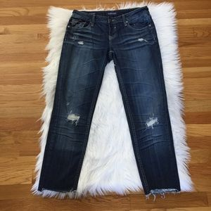 Vigoss Distressed Boyfriend Skinny Jeans